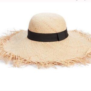 Brand New BP. Raw Edge Floppy Straw Hat